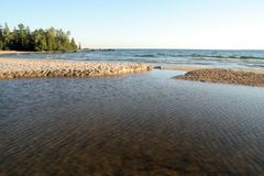 Katherine Cove on Lake Superior Royalty Free Stock Image