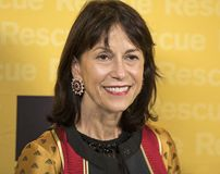 Katherine Farley. Co-chair of Rescue Dinner, arrives at the International Rescue Committee`s 2017 Freedom Award Dinner.  The annual fundraiser for the charity Royalty Free Stock Photo
