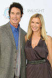 Katherine Kelly, Katherine Kelly Lang, Ronn Moss. LOS ANGELES - OCT 16: Ronn Moss, Katherine Kelly Lang arriving at the 2011 Stuntwomen Awards at the Skirball royalty free stock photos