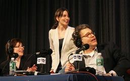 Katherine Lanpher, Tina Fey, en Al Franken royalty-vrije stock fotografie
