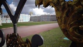 Katherine`s Palace hall in Tsarskoe Selo Pushkin, Russia stock video footage