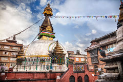 Kathesimbhu stupa在加德满都 库存图片