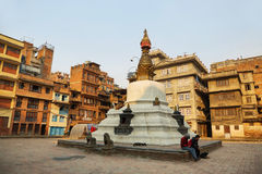 KatheSimbhu Stupa i Katmandu, Nepal Arkivbilder
