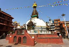 Kathesimbhu stupa, Kathmandu city, Nepal Royalty Free Stock Photography