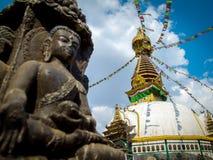 Kathesimbu Stupa με τα μάτια φρόνησης του Βούδα Στοκ φωτογραφίες με δικαίωμα ελεύθερης χρήσης