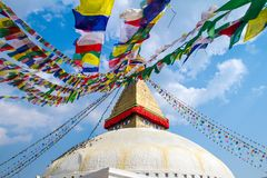 Kathesimbu Stupa in Kathmandu, Nepal Lizenzfreie Stockfotos