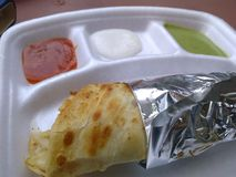 Kathi Roll On Plate Royalty Free Stock Photos