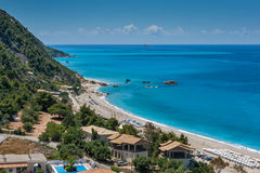 Kathisma beach at the island of Lefkada Royalty Free Stock Photo