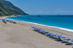 Kathisma beach at the island of Lefkada Stock Image