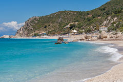 Kathisma beach at the island of Lefkada Royalty Free Stock Images