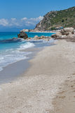 Kathisma beach at the island of Lefkada Royalty Free Stock Photography