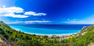 Kathisma beach at Lefkada, Greece. Kathisma Beach is one of the best beaches in Lefkada Island in Ionian Sea Royalty Free Stock Photography