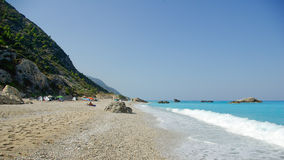 Kathisma beach in Lefkada Island, Ionion Sea, Greece Royalty Free Stock Image