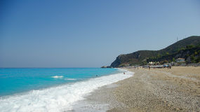 Kathisma beach in Lefkada Island, Ionion Sea, Greece Royalty Free Stock Images