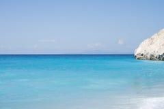 Kathisma plaża, Lefkada wyspa w Ionian morzu, Grecja Zdjęcie Royalty Free