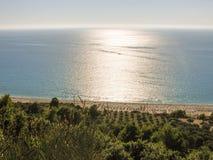Kathisma plaża w Lefkada Grecja Zdjęcia Stock