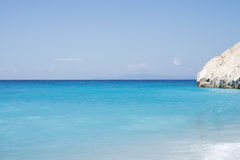 Kathisma strand, Lefkada ö i det Ionian havet, Grekland royaltyfri foto