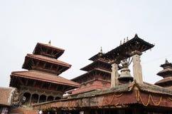 Kathmand的主要视域的尼泊尔Patan Durbar广场一 库存照片