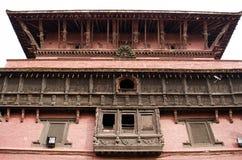 Kathmand的主要视域的尼泊尔Patan Durbar广场一 免版税库存照片