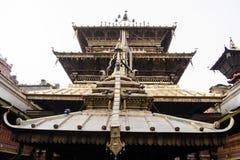 Kathmand的主要视域的尼泊尔Patan Durbar广场一 库存图片