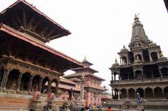 Kathmand的主要视域的尼泊尔Patan Durbar广场一 免版税库存图片