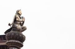 Kathmand的主要视域的尼泊尔Patan Durbar广场一 免版税图库摄影
