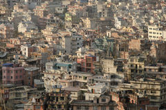 Kathmandu. The capital city from Nepal,Kathmandu, partial view of houses Royalty Free Stock Image