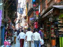 Kathmandu, as ruas de Thamel imagem de stock