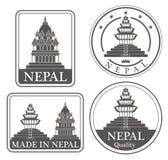 Kathmandu astratta Immagine Stock Libera da Diritti