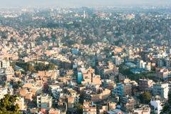 Kathmandu. From a bird's-eye view,  .Nepal,Photo taken in Dec 2008 royalty free stock photo