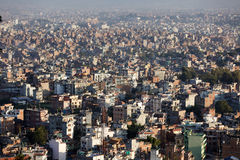 Kathmandu city panorama Stock Photos
