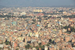 Kathmandu City Top View. Royalty Free Stock Image