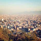 Kathmandu city view from Swayambhunath Temple - vintage effect. Stock Images