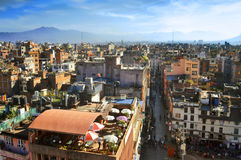 Kathmandu city view from the window of King palace museum Royalty Free Stock Photography