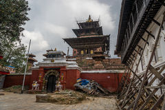 Kathmandu Dubar square reconstruction after earthquake, Kathmand Royalty Free Stock Photo