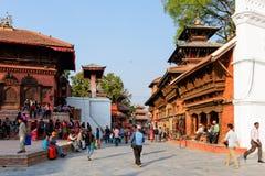 Kathmandu Durbar kwadrat w Nepal Zdjęcia Stock