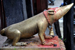 Mouse Figure at Kathmandu Durbar Square Royalty Free Stock Photo