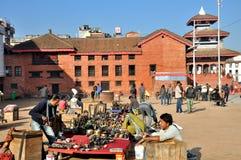Basantpur Chowk at Kathmandu Durbar Square Stock Photos