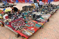 Selling Souvenirs at Kathmandu Durbar Square Stock Images