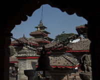 Kathmandu Durbar Square temples Stock Photography