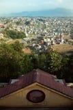 Kathmandu from Kopan Monastery Stock Image