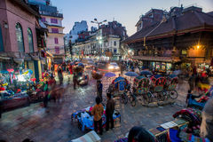 Kathmandu-Märkte Stockfoto