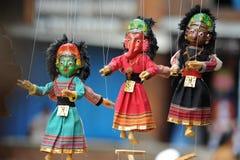 kathmandu marionette Arkivfoton