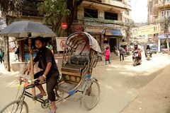 Kathmandu miasto, Napel Fotografia Royalty Free