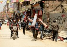 Kathmandu miasto, Napel Zdjęcia Royalty Free