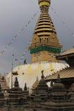 Kathmandu, Nepal, Affetempel, soyambunath stupa Lizenzfreie Stockfotos