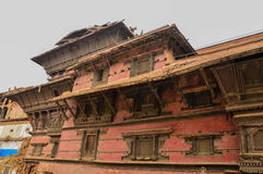 KATHMANDU, NEPAL - APRIL 26, 2015: Debris of buildings at the Durbar square in Kathmandu after, after a 7.8 earthquake, Nepal. Architecture broken building city stock images