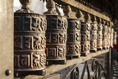 kathmandu nepal bönhjul Arkivbild