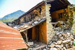KATHMANDU, NEPAL - 26 DE ABRIL DE 2015: Restos das construções no quadrado de Durbar em Kathmandu após, após uns 7 8 terremoto, N Imagens de Stock Royalty Free