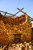 KATHMANDU, NEPAL - 26 DE ABRIL DE 2015: Restos das construções no quadrado de Durbar em Kathmandu após, após uns 7 8 terremoto, N Imagens de Stock